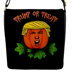 Trump Or Treat  Flap Messenger Bag (s) by Valentinaart