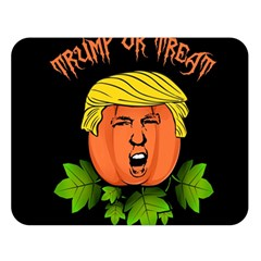 Trump Or Treat  Double Sided Flano Blanket (large)