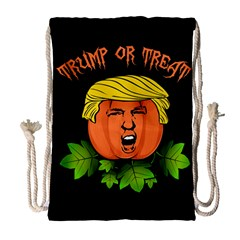 Trump Or Treat  Drawstring Bag (large) by Valentinaart