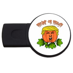 Trump Or Treat  Usb Flash Drive Round (4 Gb) by Valentinaart