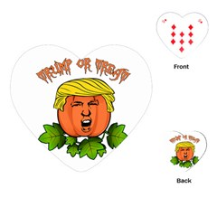 Trump Or Treat  Playing Cards (heart)  by Valentinaart