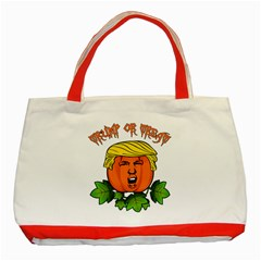 Trump Or Treat  Classic Tote Bag (red)