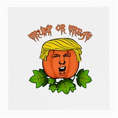Trump Or Treat  Medium Glasses Cloth (2 Side) by Valentinaart