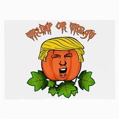Trump Or Treat  Large Glasses Cloth (2 Side) by Valentinaart