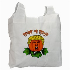 Trump Or Treat  Recycle Bag (one Side) by Valentinaart