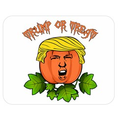 Trump Or Treat  Double Sided Flano Blanket (medium)  by Valentinaart