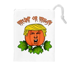 Trump Or Treat  Drawstring Pouches (extra Large) by Valentinaart