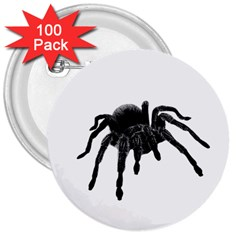 Tarantula 3  Buttons (100 Pack)  by Valentinaart
