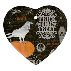 Vintage Halloween Ornament (heart)