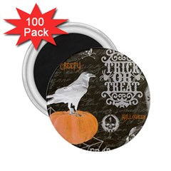 Vintage Halloween 2 25  Magnets (100 Pack)
