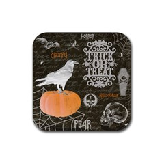 Vintage Halloween Rubber Square Coaster (4 Pack)  by Valentinaart
