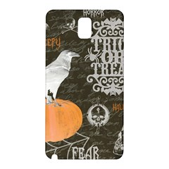 Vintage Halloween Samsung Galaxy Note 3 N9005 Hardshell Back Case by Valentinaart