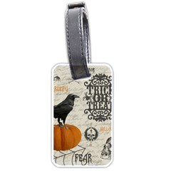 Vintage Halloween Luggage Tags (one Side)  by Valentinaart