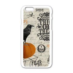 Vintage Halloween Apple Iphone 6/6s White Enamel Case by Valentinaart