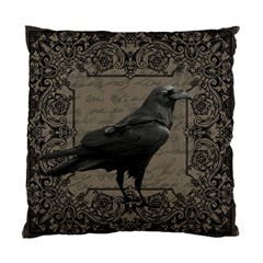 Vintage Halloween Raven Standard Cushion Case (two Sides) by Valentinaart