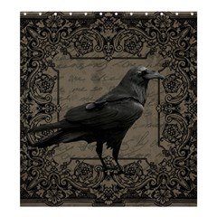 Vintage Halloween Raven Shower Curtain 66  X 72  (large)