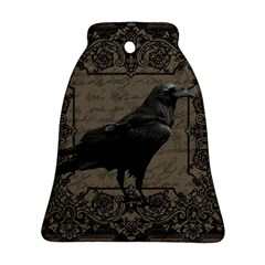 Vintage Halloween Raven Bell Ornament (two Sides)