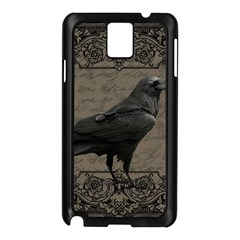 Vintage Halloween Raven Samsung Galaxy Note 3 N9005 Case (black) by Valentinaart