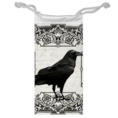 Vintage Halloween Raven Jewelry Bag by Valentinaart