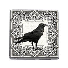 Vintage Halloween Raven Memory Card Reader (square) by Valentinaart