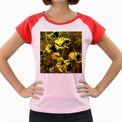 Amazing Glowing Flowers 2c Women s Cap Sleeve T Shirt by MoreColorsinLife
