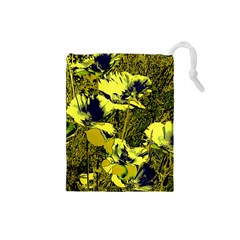 Amazing Glowing Flowers 2c Drawstring Pouches (small)  by MoreColorsinLife