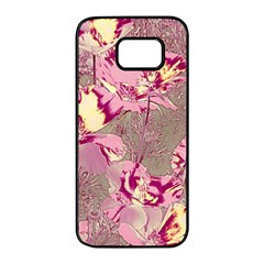 Amazing Glowing Flowers 2b Samsung Galaxy S7 Edge Black Seamless Case by MoreColorsinLife