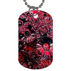 Amazing Glowing Flowers C Dog Tag (two Sides) by MoreColorsinLife