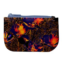 Amazing Glowing Flowers 2a Large Coin Purse by MoreColorsinLife