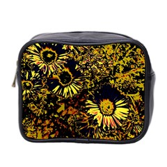 Amazing Neon Flowers B Mini Toiletries Bag 2 Side by MoreColorsinLife