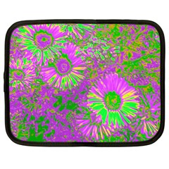 Amazing Neon Flowers A Netbook Case (xl)  by MoreColorsinLife