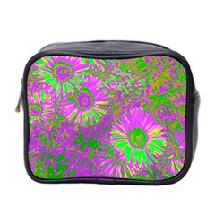 Amazing Neon Flowers A Mini Toiletries Bag 2 Side by MoreColorsinLife