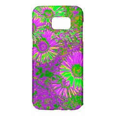 Amazing Neon Flowers A Samsung Galaxy S7 Edge Hardshell Case by MoreColorsinLife