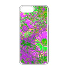 Amazing Neon Flowers A Apple Iphone 7 Plus White Seamless Case by MoreColorsinLife