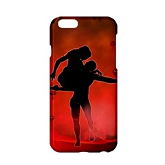 Dancing Couple On Red Background With Flowers And Hearts Apple Iphone 6/6s Hardshell Case by FantasyWorld7