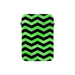 Chevron3 Black Marble & Green Watercolor Apple Ipad Mini Protective Soft Cases by trendistuff