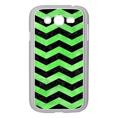 Chevron3 Black Marble & Green Watercolor Samsung Galaxy Grand Duos I9082 Case (white) by trendistuff