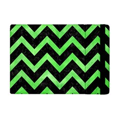 Chevron9 Black Marble & Green Watercolor Apple Ipad Mini Flip Case by trendistuff