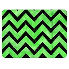 Chevron9 Black Marble & Green Watercolor (r) Samsung Galaxy Tab 7  P1000 Flip Case by trendistuff