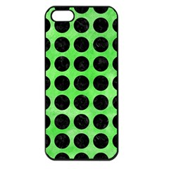 Circles1 Black Marble & Green Watercolor (r) Apple Iphone 5 Seamless Case (black) by trendistuff