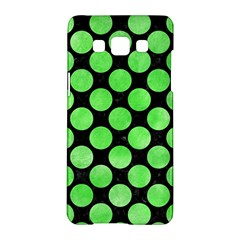 Circles2 Black Marble & Green Watercolor Samsung Galaxy A5 Hardshell Case  by trendistuff