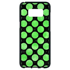 Circles2 Black Marble & Green Watercolor Samsung Galaxy S8 Black Seamless Case