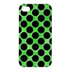 Circles2 Black Marble & Green Watercolor (r) Apple Iphone 4/4s Premium Hardshell Case by trendistuff