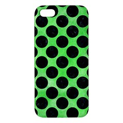 Circles2 Black Marble & Green Watercolor (r) Iphone 5s/ Se Premium Hardshell Case by trendistuff