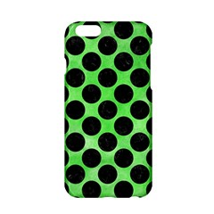 Circles2 Black Marble & Green Watercolor (r) Apple Iphone 6/6s Hardshell Case by trendistuff