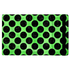 Circles2 Black Marble & Green Watercolor (r) Apple Ipad Pro 9 7   Flip Case by trendistuff