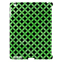 Circles3 Black Marble & Green Watercolor Apple Ipad 3/4 Hardshell Case (compatible With Smart Cover) by trendistuff
