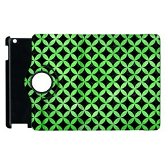 Circles3 Black Marble & Green Watercolor Apple Ipad 2 Flip 360 Case by trendistuff