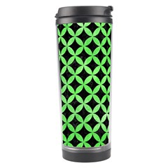 Circles3 Black Marble & Green Watercolor Travel Tumbler by trendistuff