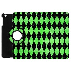 Diamond1 Black Marble & Green Watercolor Apple Ipad Mini Flip 360 Case by trendistuff